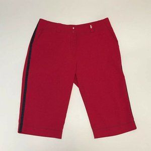 Nike Golf FitDry Red Bermuda Golf Shorts Womens 8